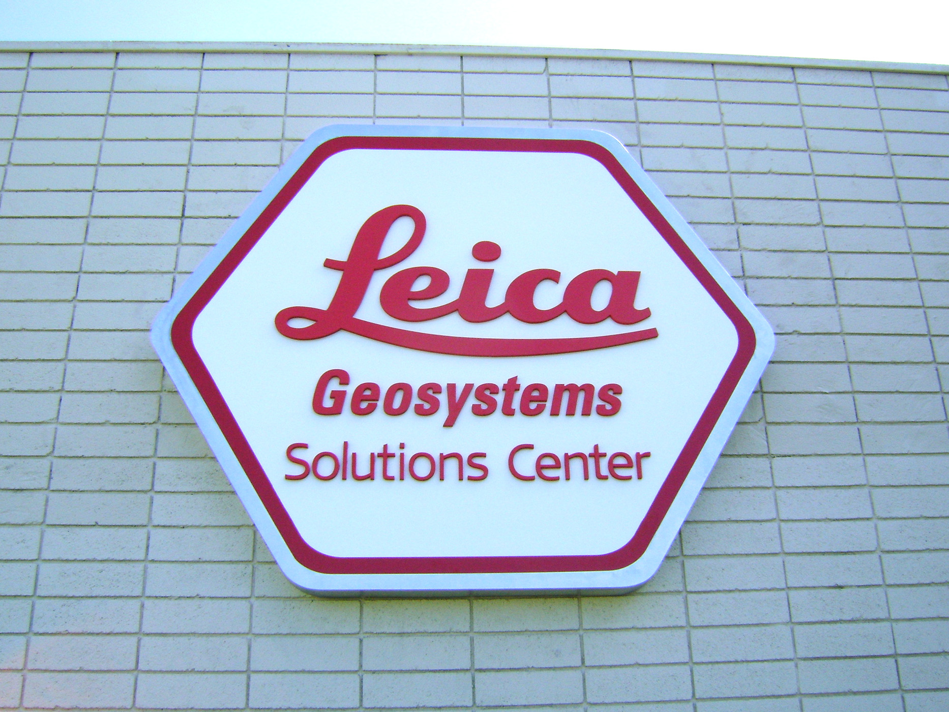 Leica Metal Pan Sign with PVC letters