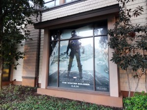 Disney - Tram Stop Window - Captain America