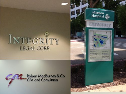 Legal, Medical, Accounting, Professional Service Signs and Office Signage near Costa Mesa, CA