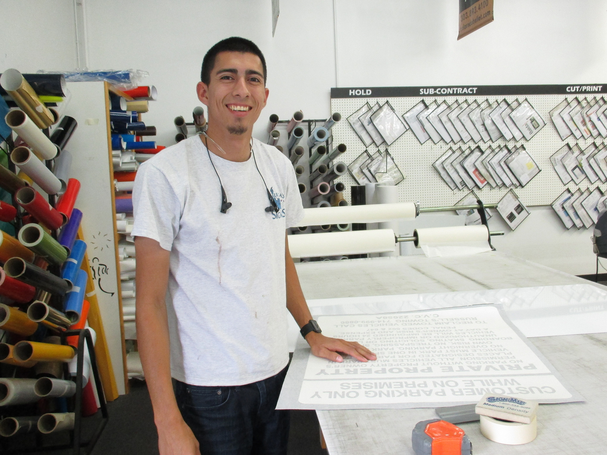 Nick Molina, Sign Designer / Installer