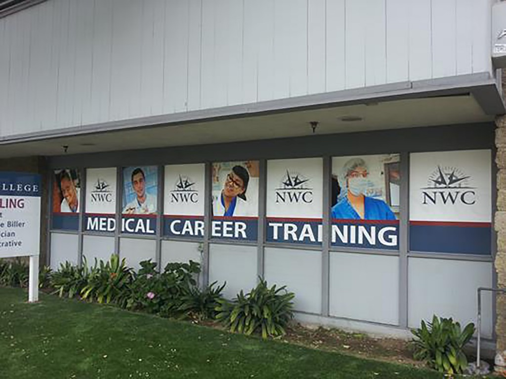 North-West College - Santa Ana - Window Graphics
