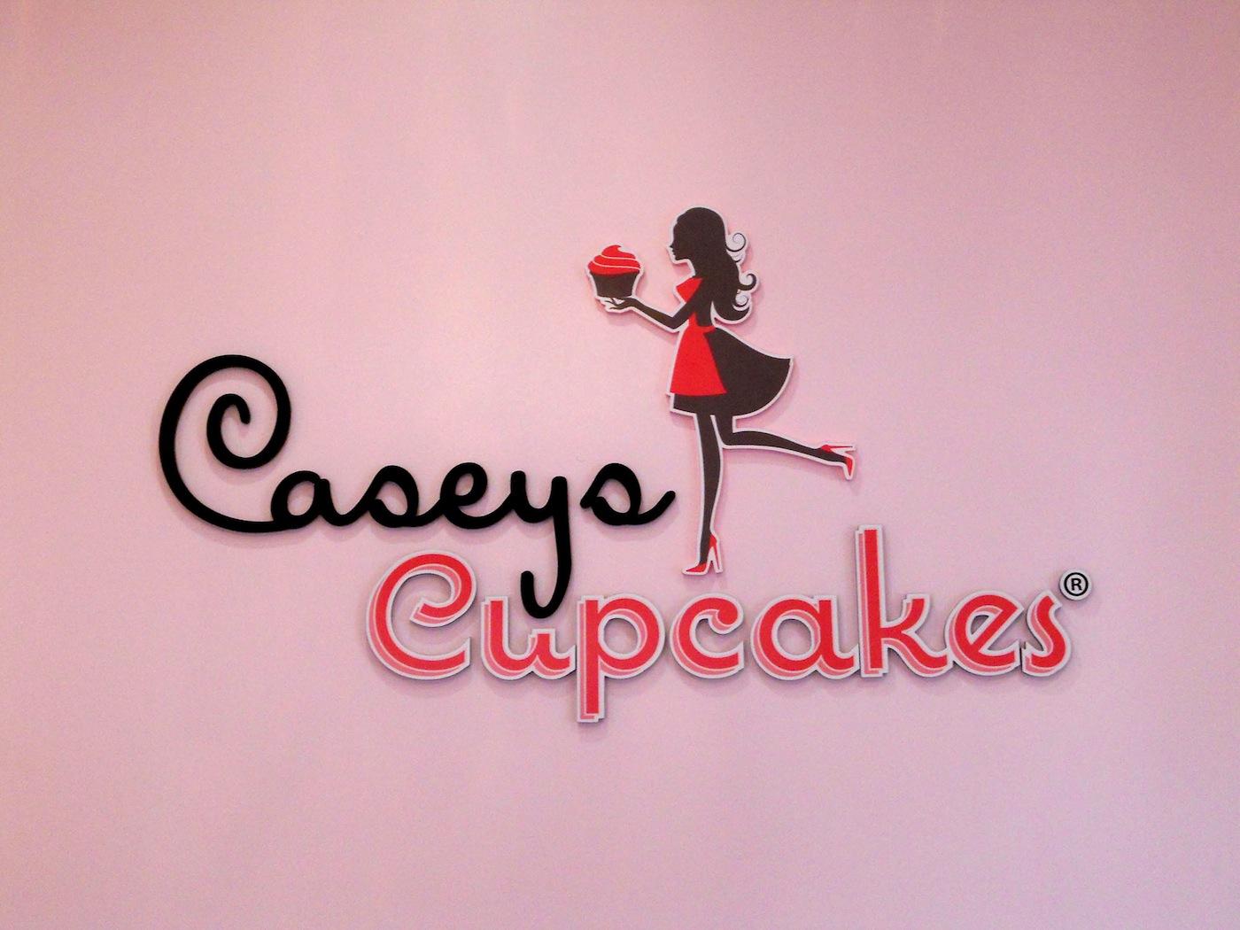 Caseys Cupcakes - Dimensional Acrylic Lobby Sign