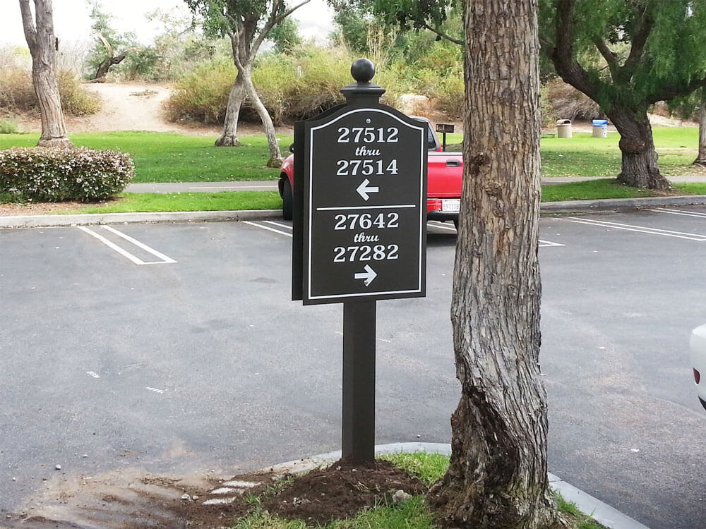 Way-finding directional sign for Ortega Cottages by America's Instant Signs