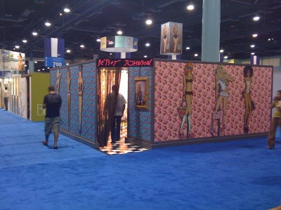 Betsey-Johnson-full-size-model-cutouts-for-trade-show-booth