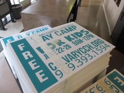 Calvary-Chapel-Screen-printed-Coroplast-Yard-Signs