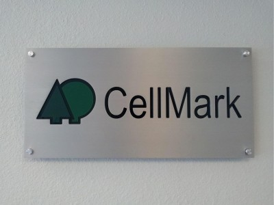 Cellmark-Brushed-Aluminum-Panel-with-routed-out-letters-and-acrylic-backer