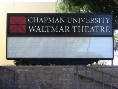 Chapman-University-Changeable-Readerboard