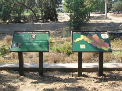 City-of-Santa-Ana-post-and-panel-park-sign
