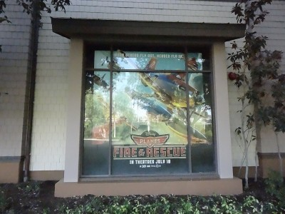 Downtown-Disney-Tram-Stop-PVC-Window-Panel-Display