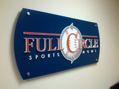 Full-Circle-Sports-Mgmt-Non-glare-clear-acrylic-panel-with-dimensional-acrylic-letters-3