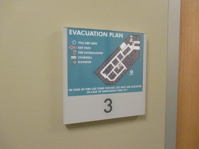 Harvard-Eye-Associates-Changeable-EVAC-Map-Sign-holder