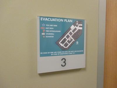 Harvard-Eye-Associates-Changeable-EVAC-Map-Sign-holder