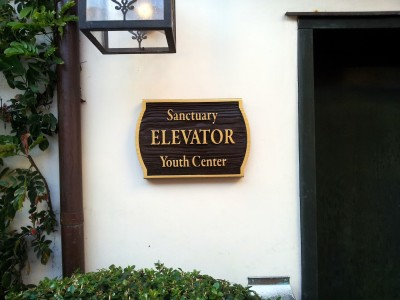 Laguna-Presbyterian-Church-New-sandblasted-Elevator-sign