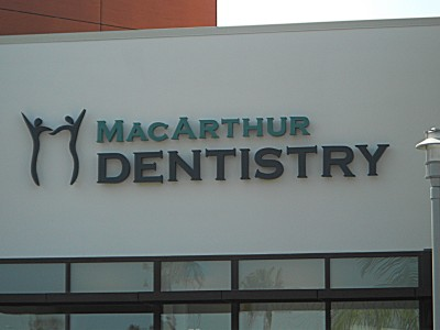 MacArthur-Dentistry-halo-lit-channel-letters-Newport-Beach-CA