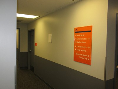 North-West-College-LB-Acrylic-Way-finding-Sign