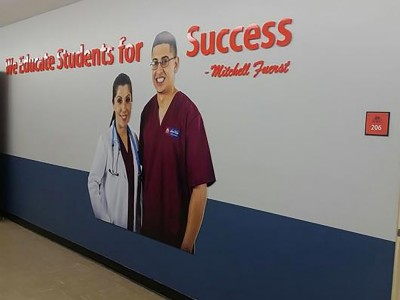North-West-College-Pasadena-We-Educate-For-Success-Acrylic-and-PVC-Display