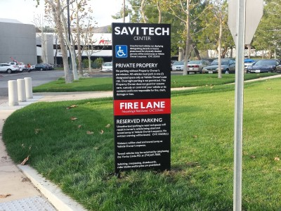 Savi-Tech-Center-way-finding-sign