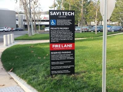 Savi-Tech-Center-way-finding-sign