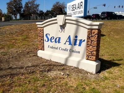 Sea-Air-Federal-Credit-Union-Pre-fab-Foam-Monument-Sign