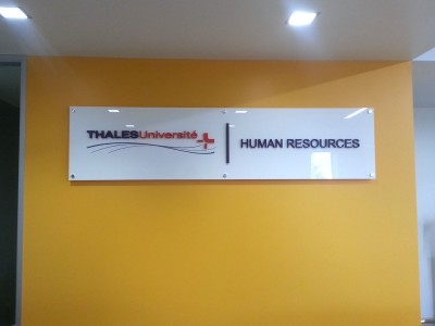 Thales-Acrylic-Panel-Sign