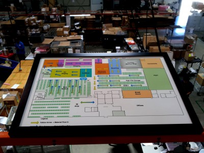Thales-Warehouse-floor-plan-in-custom-frame-and-mount