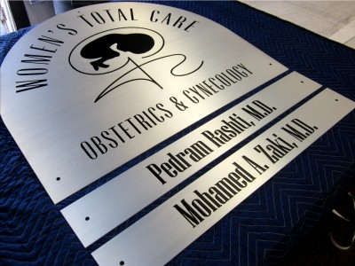 Womens-Total-Care-laser-engraved-aluminum-plaque