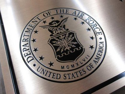 Department of the Air Force Etched Brass Plaque from America's Instant Signs