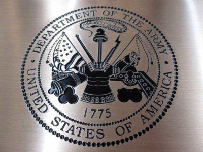 Department of the Army Etched Brass Plaque from America's Instant Signs