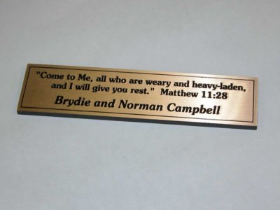 Campbell Family Etched Brass Plaque from America's Instant Signs