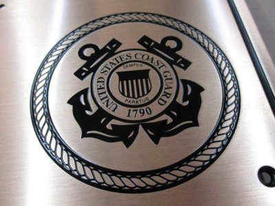 United States Coast Guard Etched Brass Plaque from America's Instant Signs