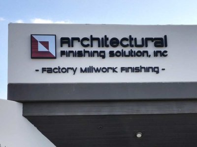 Architectural Finishing Solution Dimensional Foam Sign from America's Instant Signs