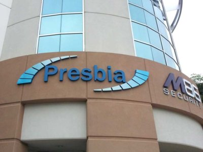 Presbia Dimensional Foam Sign from America's Instant Signs