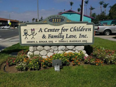 Center for Children & Family Law Monument Sign - Pre-Fabricated Foam Monument Signs from America's Instant Signs