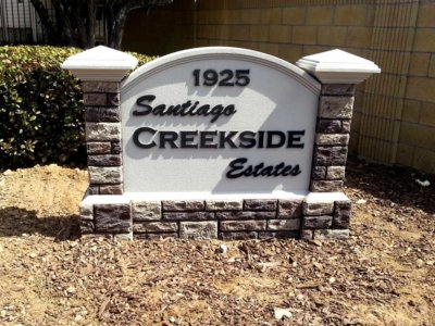 Santiago Creekside Estates Monument Sign - Pre-Fabricated Foam Monument Signs from America's Instant Signs