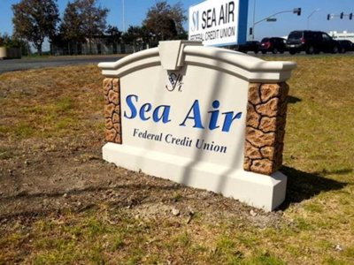 Sea Air Federal Credit Union Monument Sign - Pre-Fabricated Foam Monument Signs from America's Instant Signs