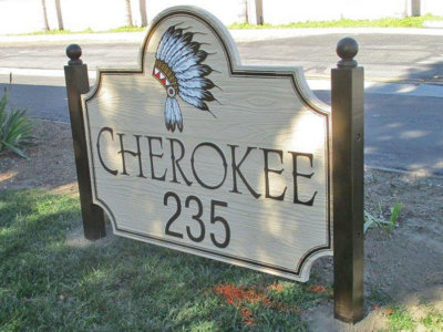 Cherokee Sandblasted Exterior Sign from America's Instant Signs