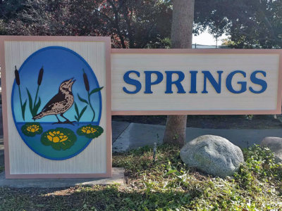 Springs Sandblasted Exterior Sign from America's Instant Signs
