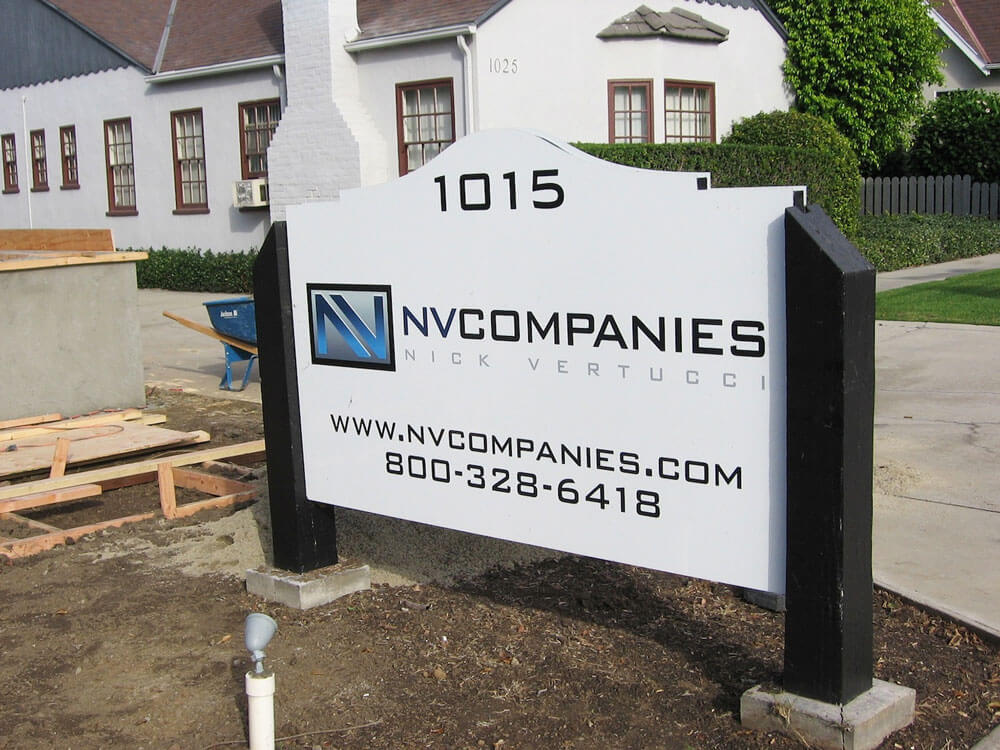 Way-Finding Post and Panel Sign for NVCompanies by America's Instant Signs